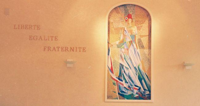 Die dekorativen Mosaik