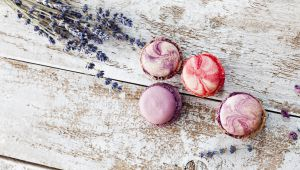 A tasty treat: recipe for honey and lavender macaroons
