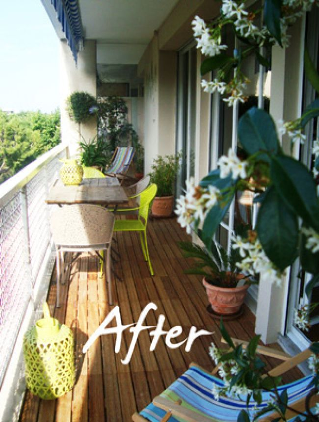 Before & After The Bird Balcony Interpreted by Slowgarden