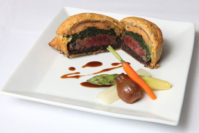 The culinary highlight, the «beef Wellington»