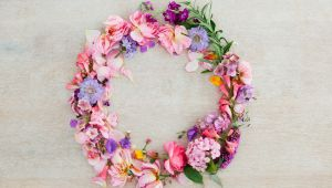 Provence Touch: make a crown of flowers