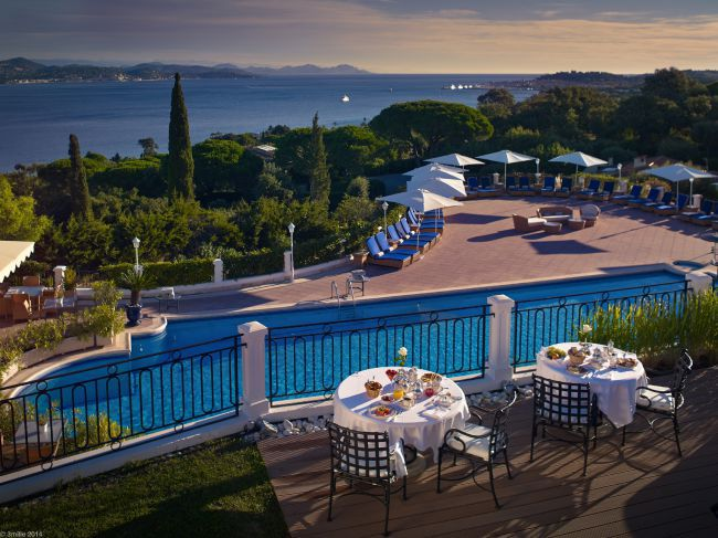 La plus balnéaire : la terrasse de la Villa Belrose