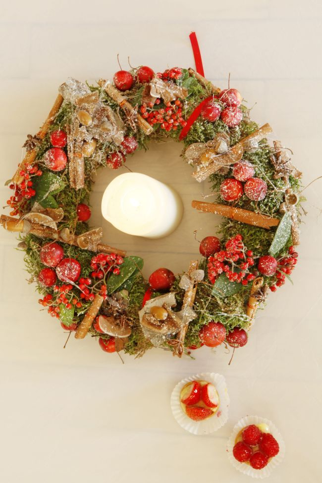 Holidays : inviting nature to table