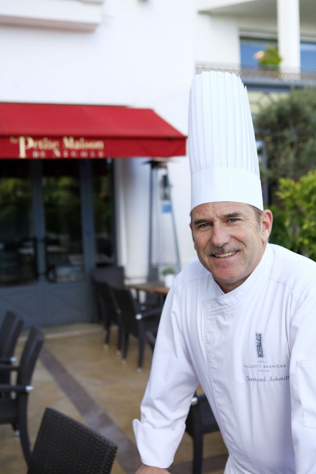Bertrand Schmitt, Head Chef at the Hôtel Majestic Barrière in Cannes