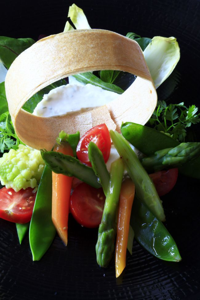 Goat Cheese Terrine with Thyme & Marinated Vegetables