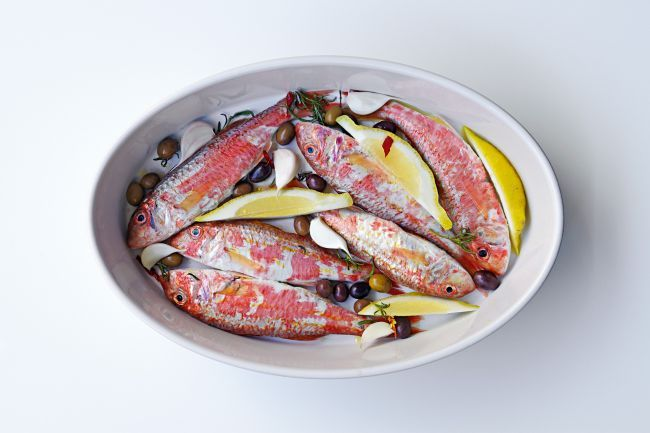 Red Mullet with herbs
