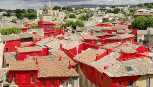 Felice Varini: Full-Scale Art on the Roofs of Salon-de-Provence