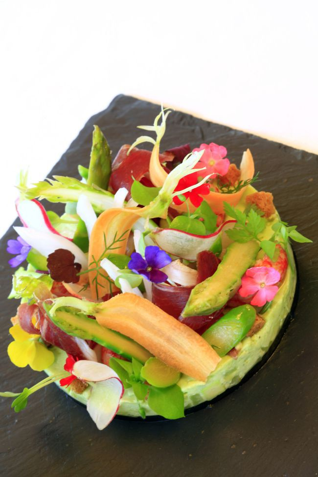 Shrimp & Zucchini Salad by Chef Michel Hulin