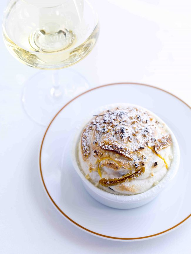 Quince and Dried Fruit and Nut Soufflé