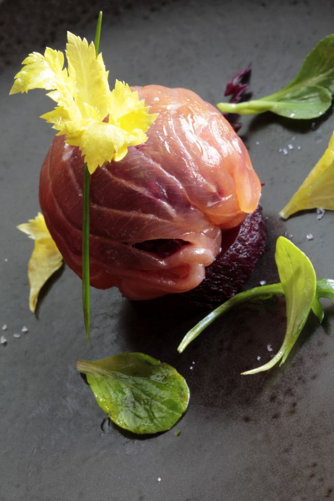 Salmon Bonbons by chef Ludovic Aillaud