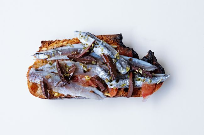 Fresh Anchovy Open Sandwiches