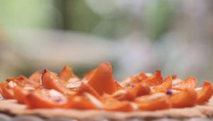 Tarta de albaricoques y almendras