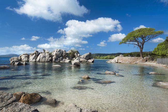 La playa de Palombaggia