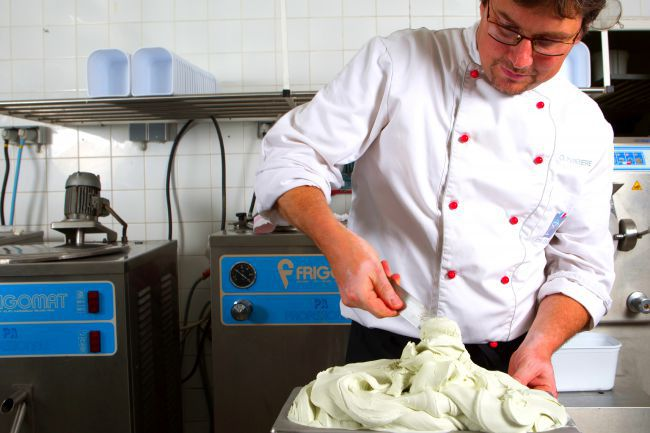 El helado de lavanda: el sabroso postre de Olivier Perrière