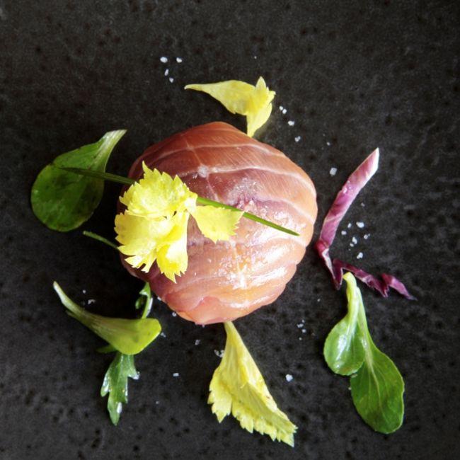 Recette : Bonbon de saumon par Ludovic Aillaud chef de l'Epicurien à Aix-en-Provence