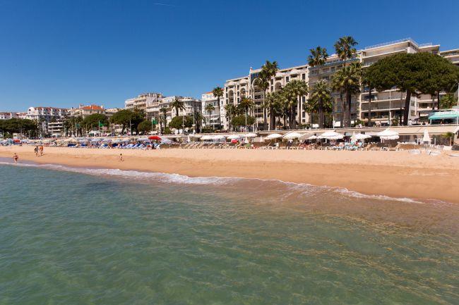 Plage de la Croisette à Cannes