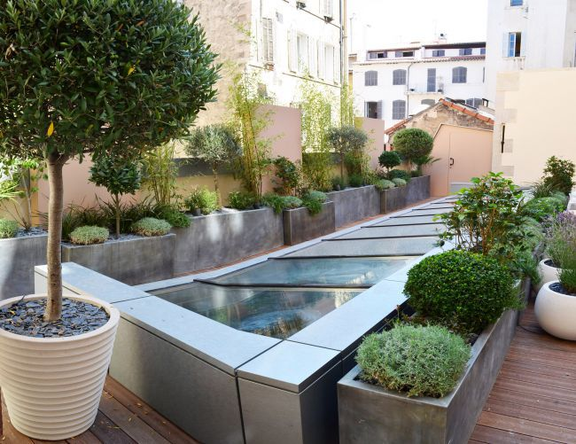 Terrasse jardin design for Jardin et design