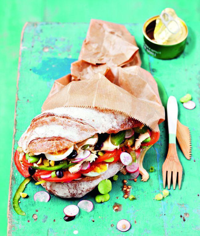 La recette du pan bagnat d'Estérelle Payany