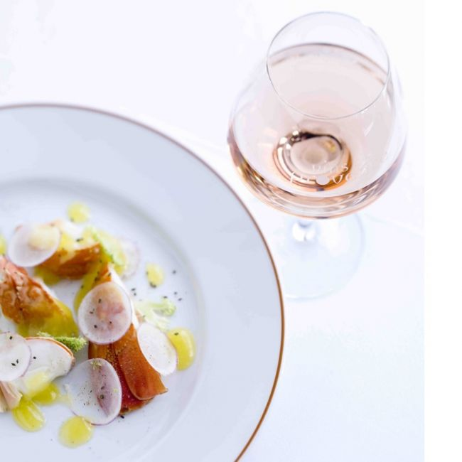 Langouste de Méditerranée en aigre doux, miel, citron vert et fleur d'oranger par Alain Passard
