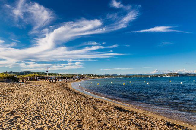 La plus célèbre : la plage Pampelonne à Ramatuelle