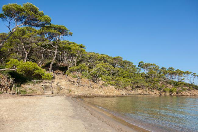 La plus confidentielle : la plage Notre-Dame à Porquerolles