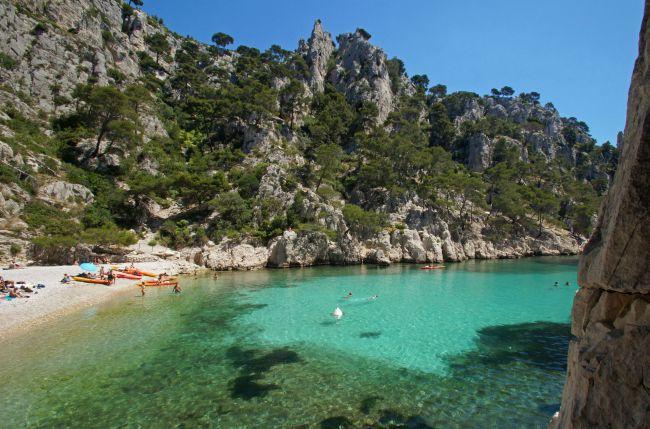 La plus sauvage : la plage de la calanque d'En-Vau à Cassis