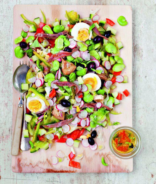 La recette de la salade niçoise d'Estérelle Payany