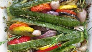 Tian di verdure estive con zucchine a ventaglio