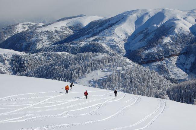 地中海を望むスキー場