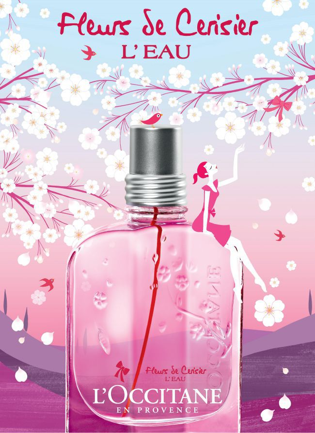 A linha «Fleur de Cerisier » da L'Occitane
