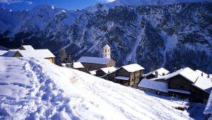 雪中的普罗旺斯