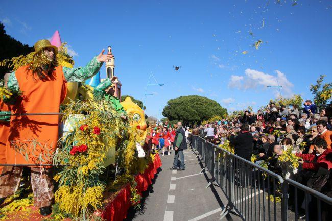 芒代利厄(Mandelieu)的金合欢花节