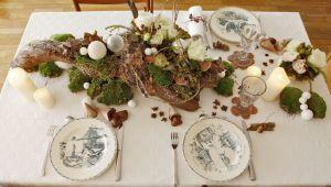 普羅旺斯聖誕餐桌裝飾